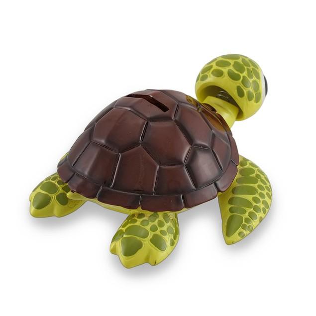 Bobble Head Sea Turtle Brown Shell Piggy Bank Toy Banks