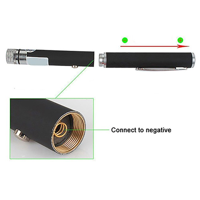 6 in 1 5mw 532nm Green Laser Pointer Star Light Pen with 5 Caps