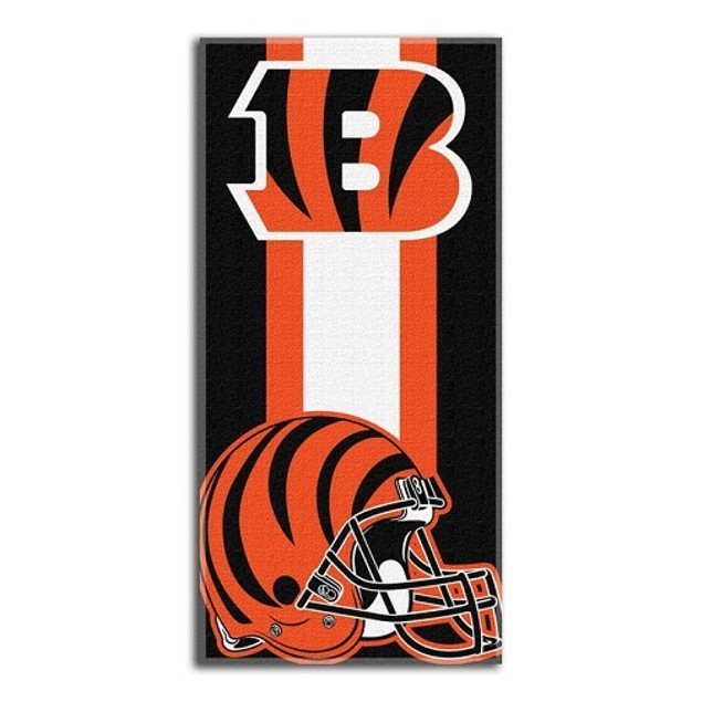 Cincinnati Bengals NFL Northwest Beach Bath Towel