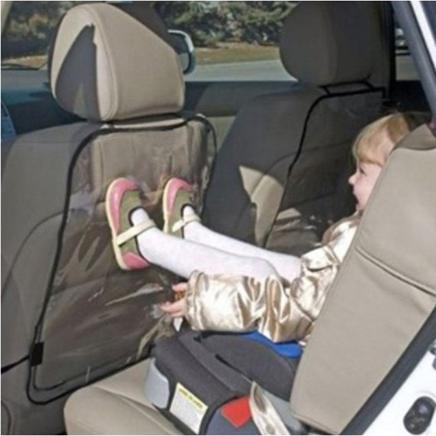 Car Auto Seat Back Protector Cover For Children Kick Mat Mud Clean BK