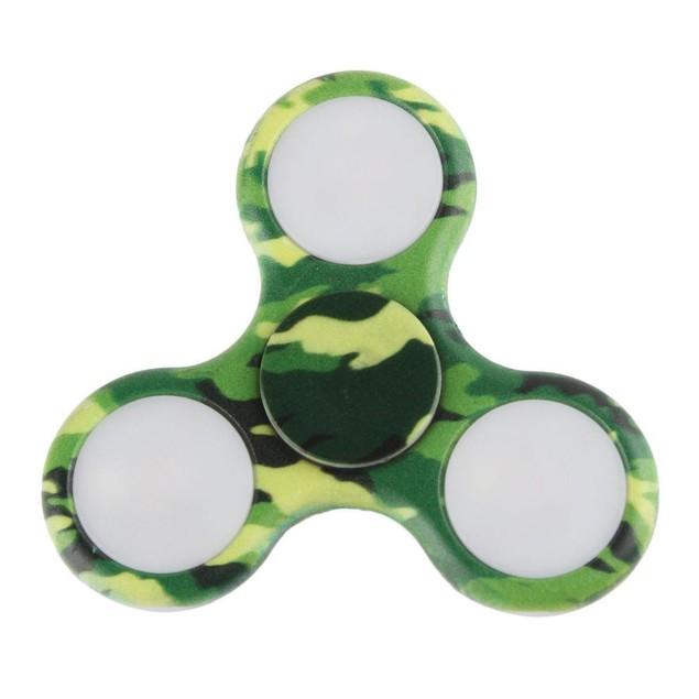 LED Hand Spinner Flashing EDC Anti-Stress Fidget Finger Toys Light Up