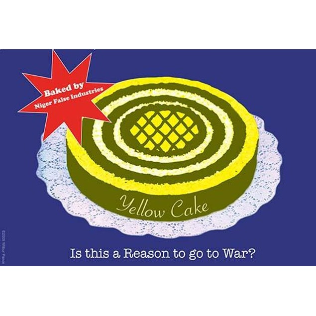 Yellow Cake. Baked by Niger False Industries. Poster