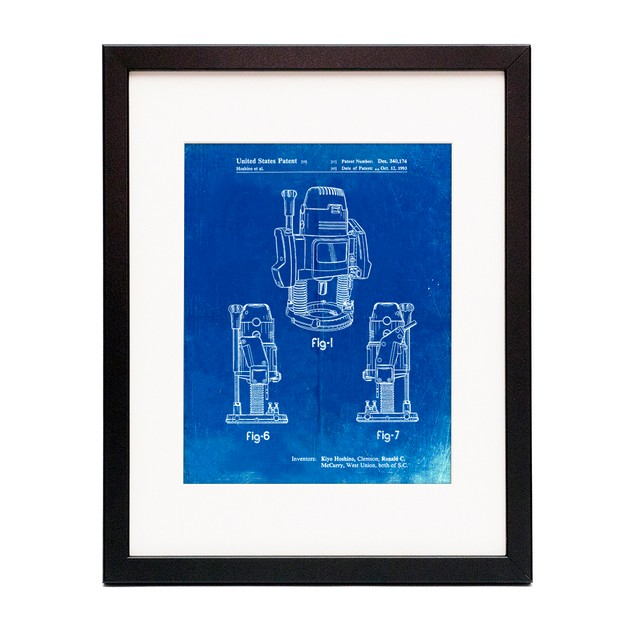 Plunge Router Patent Poster