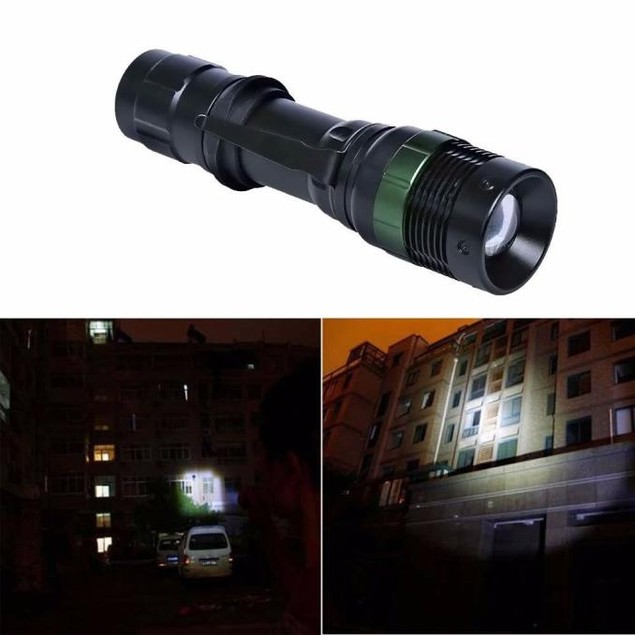 3000 Lumen Zoomable XM-L Q5 LED Flashlight Torch