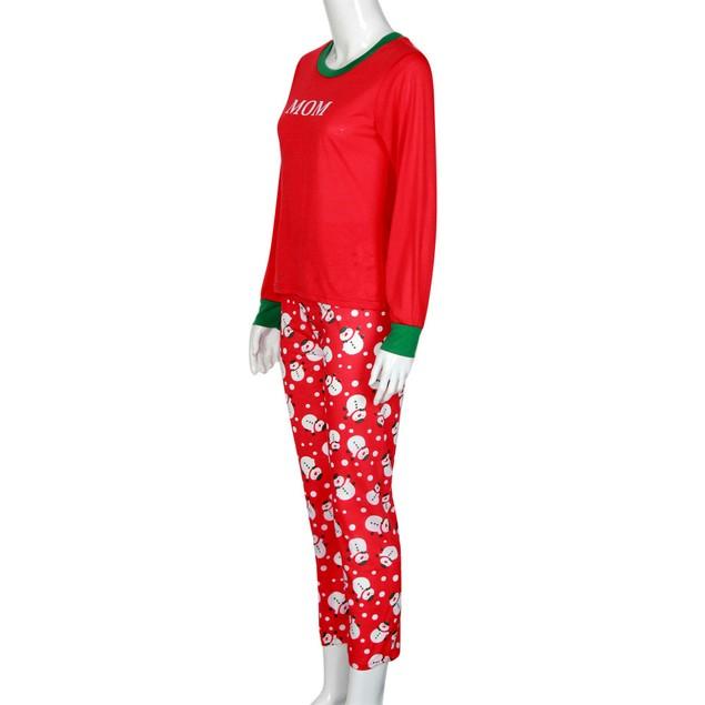Christmas Family Mom Mother Pajamas Set Snowman Sleepwear Nightwear