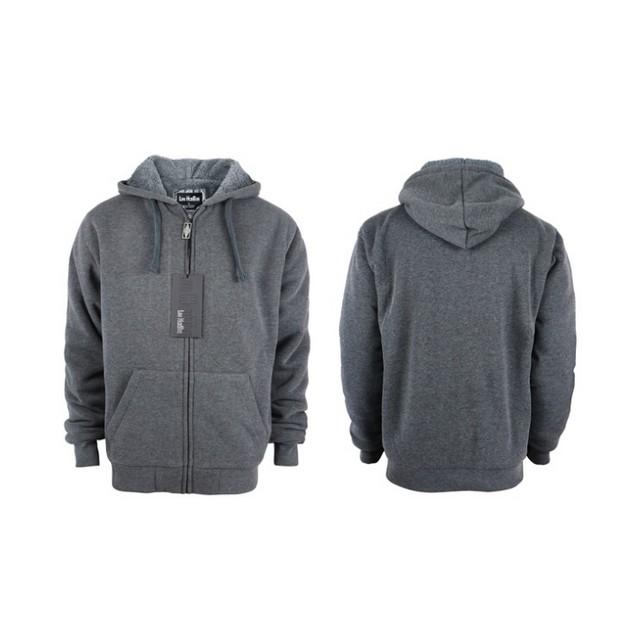 Lee Hanton Men's Zip Up Soft Sherpa-Lined Fleece Hoodie Sweatshirts (S-5XL)