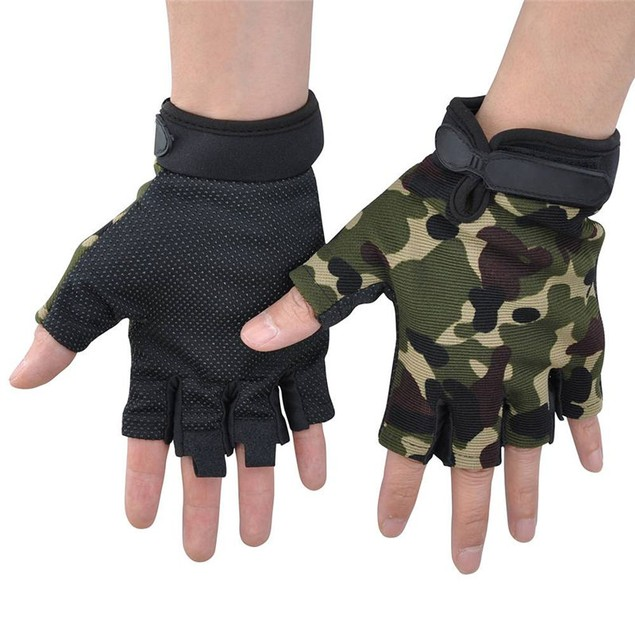 Outdoor Sports Unisex Bicycle Riding Anti-slip Silicon Gloves