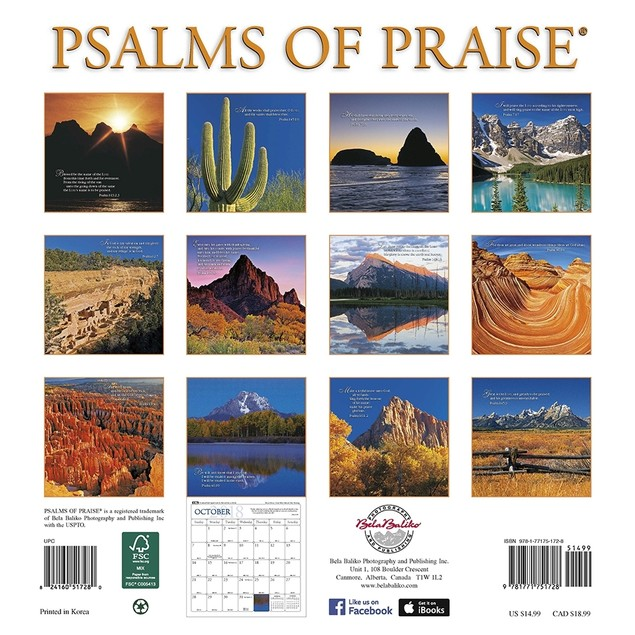 2018 Baliko Psalms of Praise Softcover Weekly Planner