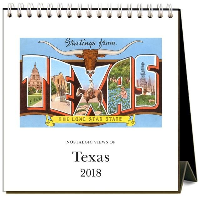 Texas Nostalgic Easel Calendar, Texas by Calendars