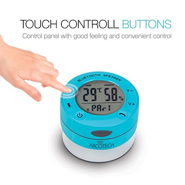 Abco Tech Shower Speaker - LCD Display - Humidity and Temperature Control