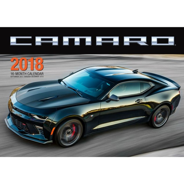 Camaro Wall Calendar, Sports Car by Quarto