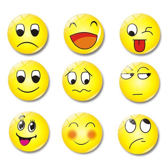 Cute Emoji Glass Glue Sign Pattern Dome Glass Fridge Magnet