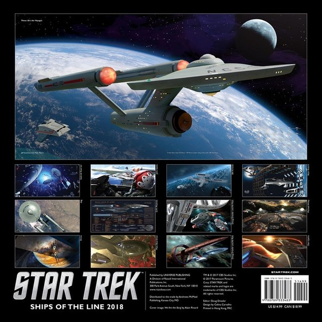 Star Trek Ships Wall Calendar, Sci-Fi TV by Calendars