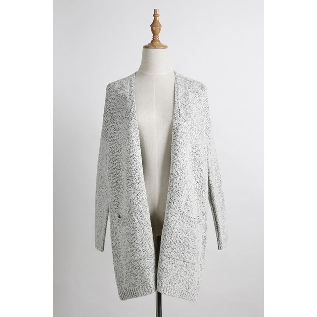 Gray Knit Cardigan