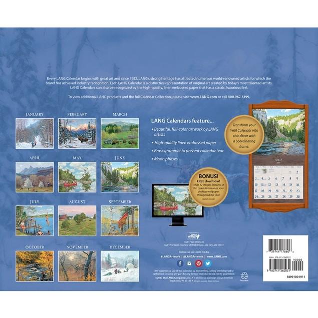 Four Seasons Wall Calendar, Lang Folk Art by Calendars