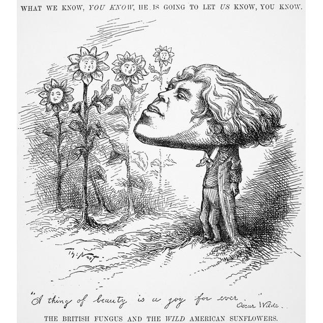 Oscar Wilde (1854-1900). /Nirish Writer And Wit. A Thomas Nast Cartoon Publ