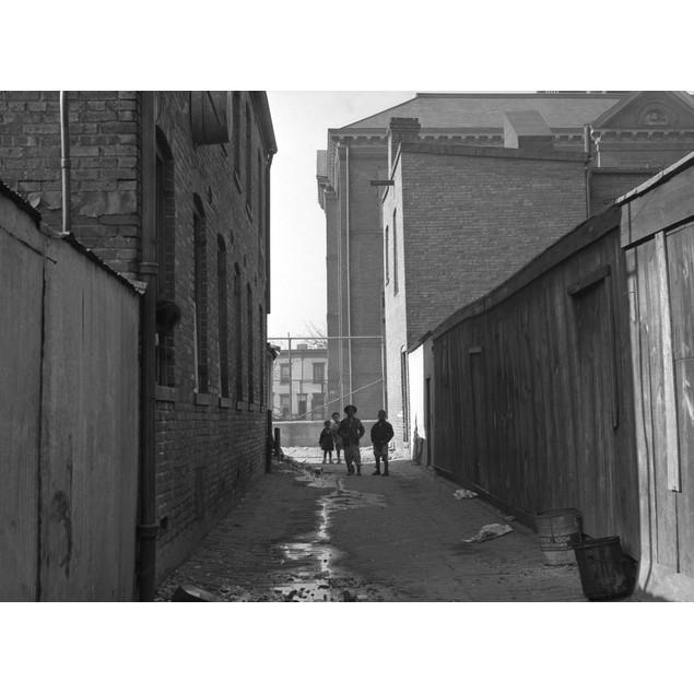 Children In Alley, 1935. /Nalley Near L Street, N.W. Blake School In Backgr