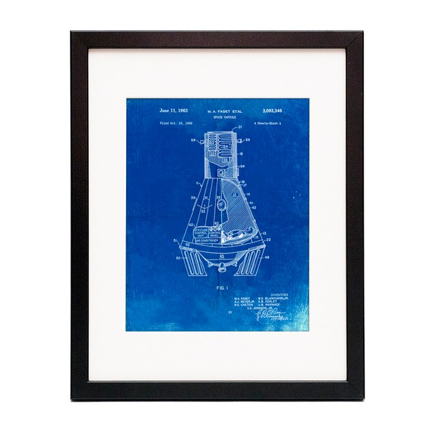 NASA Space Capsule 1959 Patent Poster