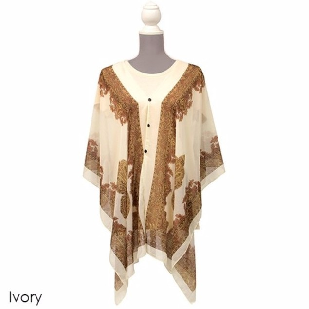 Carefree All-In-One Poncho/Scarf/Wrap