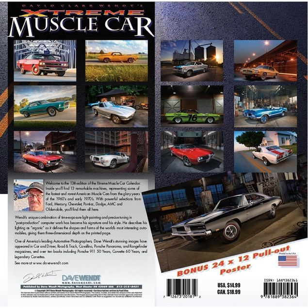 Xtreme Muscle Cars Wall Calendar, Muscle Cars   Hot Rods by Calendars