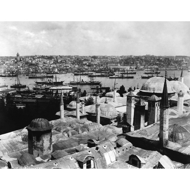 Istanbul: Golden Horn. /Nview Of The Golden Horn From The Topkapi Palace In