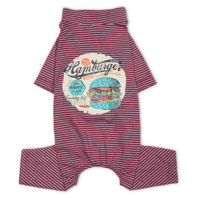 Touchdog Onesie Lightweight Printed Full Body Pet Dog T-Shirt Pajamas
