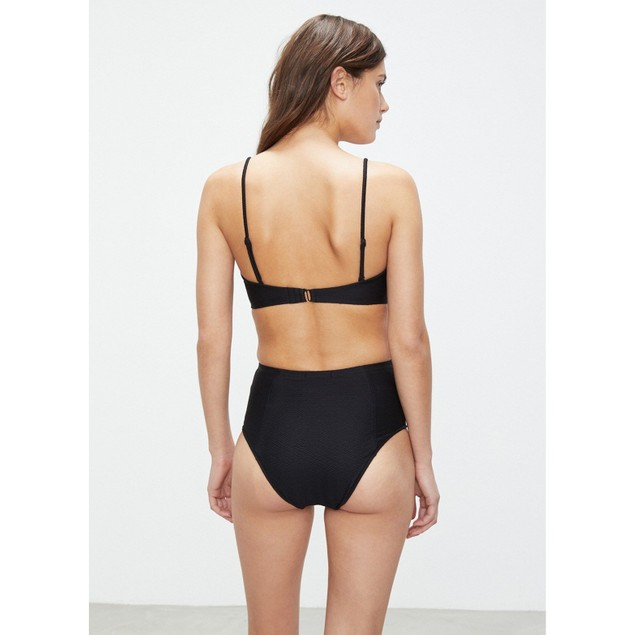 onia Women's Leah Textured Black Swimsuit Bottoms SIZE LARGE