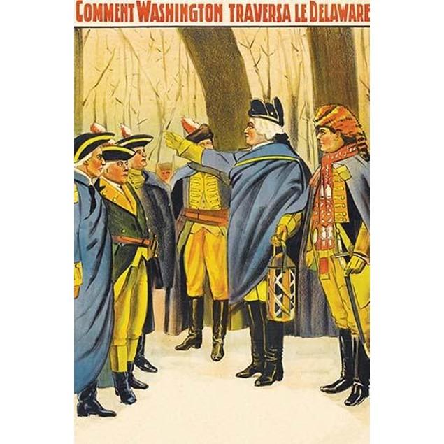Washington exhorts his men Poster
