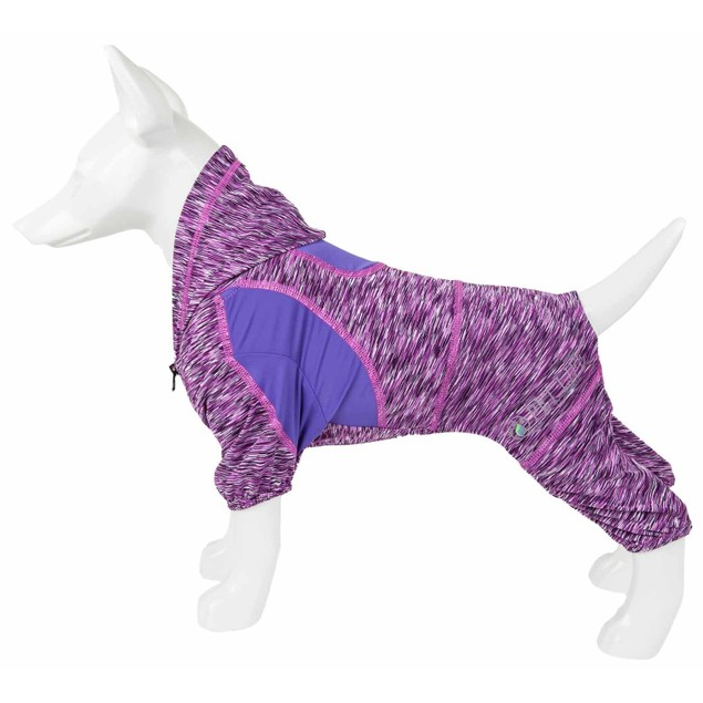Pet Life Active 'Downward Dog' Performance Full Body Warm Up Hoodie