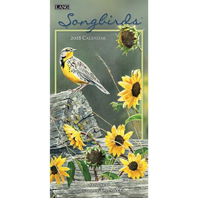 Songbirds Slim Wall Calendar, Birds by Calendars