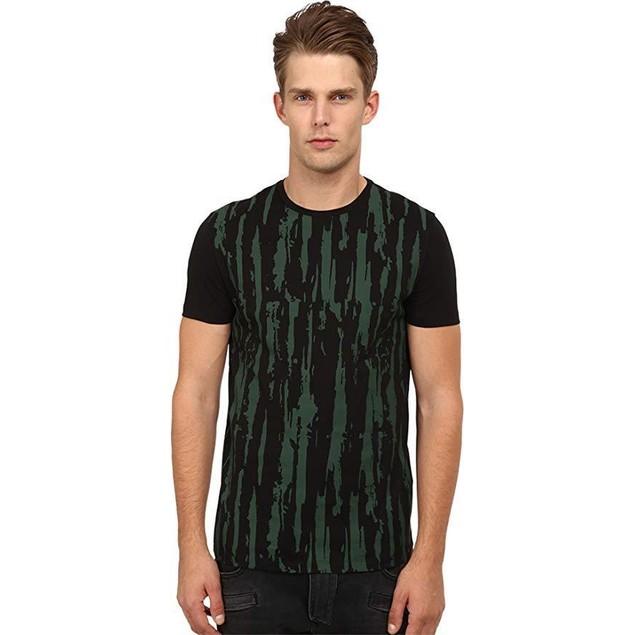 CoSTUME NATIONAL Men's Front Distress Shirt Nero LG