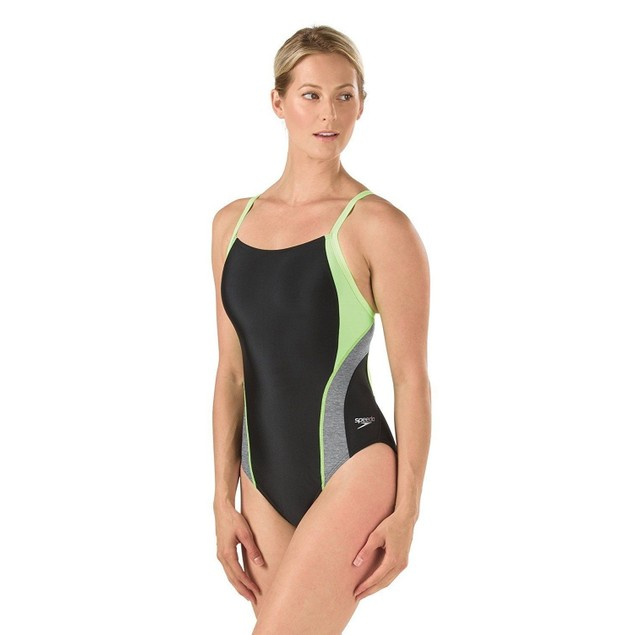 Speedo Women's Relaunch Flyback One Piece Swimsuit, Sport Neon, SZ 30