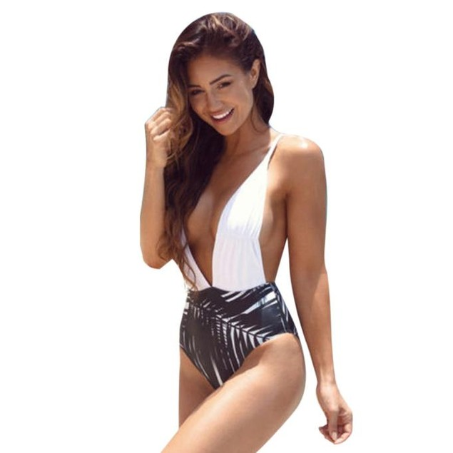 Women One Piece Swimsuit Push Up Padded Bikini Swimwear Beachwear