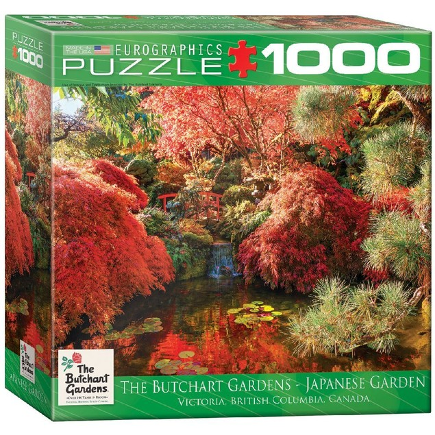 Butchart Gardens Japanese Garden 1000 Piece Puzzle, 1,000 Piece Puzzles by