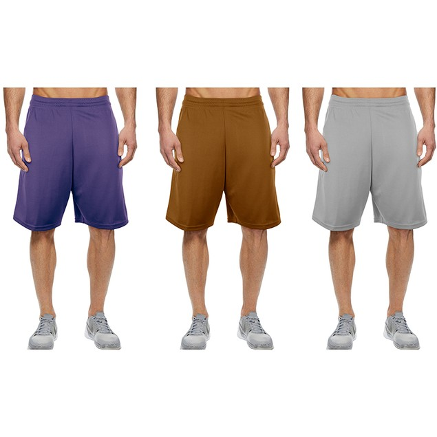 5-Pack Mystery Deal: Men's Moisture-Wicking Solid Mesh Shorts