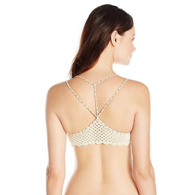 Rip Curl Women's Topanga Bra Bikini Top, Vanilla, X-Large