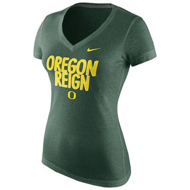 "Oregon Ducks NCAA Nike ""Local"" Slim Fit V-Neck Tee"