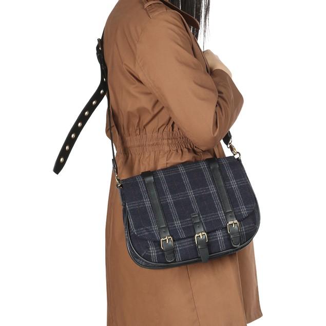Celebrity NYC Womens Navy Blue Satchel Bag
