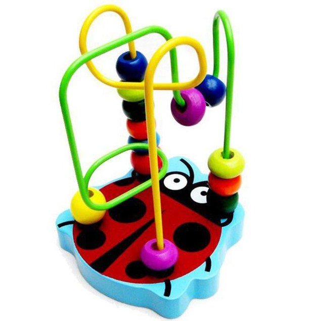 Kids Wooden Mini Slide Bead Toy