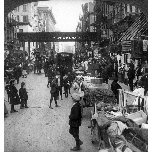 """Lower East Side, 1907. /N'""""How The Other Half Lives"""" In A Crowded Hebrew Di"""