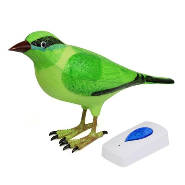 Home Wireless Bird Remote Control Chime Digital Doorbell Alarm
