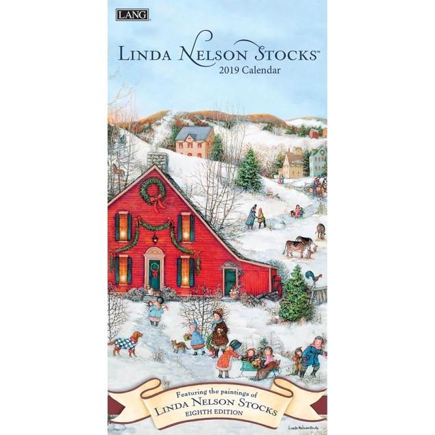 Linda Nelson Stocks Slim Wall Calendar, Lang Folk Art by Calendars