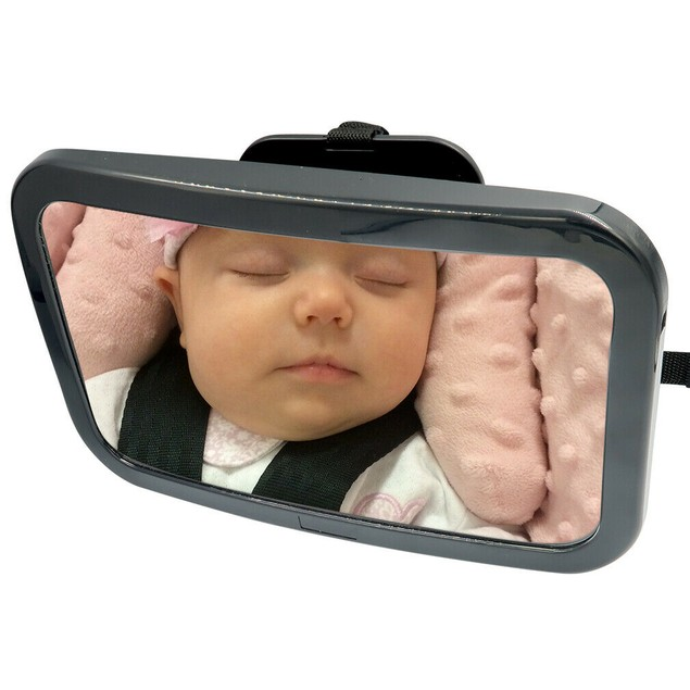 Baby Car Mirror Rear/Front Facing-Adjustable Straps-Attach to Headrest