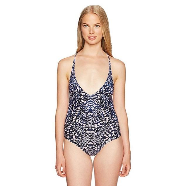 Rip Curl Women's Sun Shadow One Piece Swimsuit, Navy, M