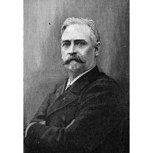 Richard Morris Hunt /N(1827-1895). American Architect. Line Engraving, 1892