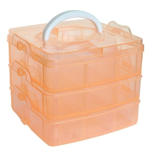 3-Layer Detachable Craft Storage Boxes - Assorted Colors