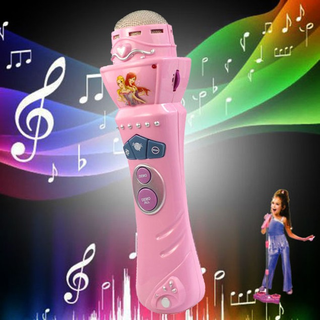 Wireless LED Microphone Mic Karaoke Singing Music Toy