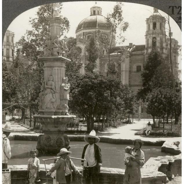 Mexico City, C1920. /N'Plaza And Church Of Santo Domingo, City Of Mexico.'