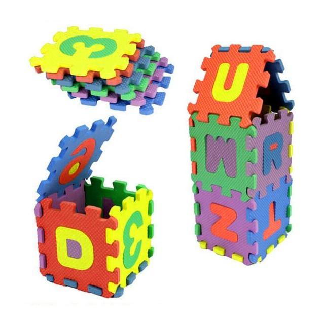 Kids 36-Piece Alphabet/Bumber Foam Mat Learning Toy