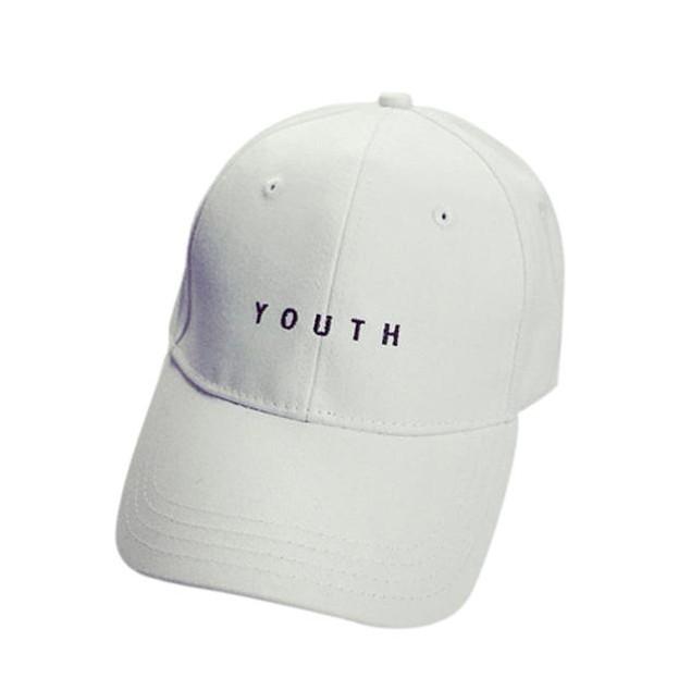 Embroidery Cotton Baseball Cap Boys Girls Snapback Hip Hop Flat Hat